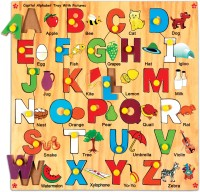 Skillofun Capital Alphabet Tray with Picture: Learning Toy