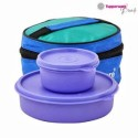 Tupperware Lunch Box Plastic Lunch Boxes - Set Of 3, Blue