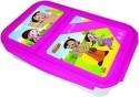 Chhota Bheem Plastic Lunch Box - Pink And White