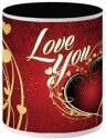 Allthingscustomized Love You Ceramic (Painted Inside) Mug - Multicolor, Pack of 1