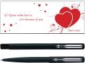Parker Vector Matte Black Valentine Edition CT (RB) Pen Set
