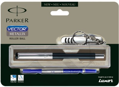 Buy Parker Vector Mettalix (with swiss knife) CT Roller Ball Pen: Pen