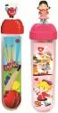 Buddyz Cricket Ball Man & Baby Girl PP Pencil Boxes - Pink, Red