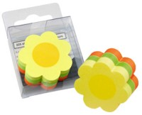 Info Shaped Mini Cube 225 Sheets Post-its Sticky Note, 3 Colors: Post It