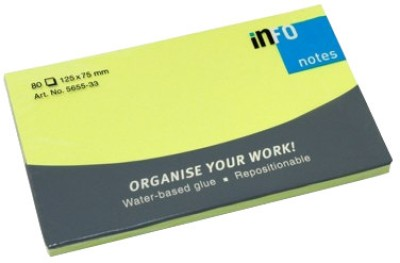 Buy Info Brilliant 80 Sheets Post-its Sticky Note, 1 Colors: Post It