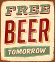 Free Beer Paper Print - Small, Rolled