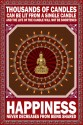 Buddha - Share Happiness Paper Print - Small, Rolled