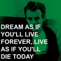 James Dean - Dream Paper Print - Small, Rolled