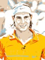 Rafael Nadal - Orange Paper Print - Small, Rolled
