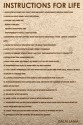 Instructions For Life By Dalai Lama Paper Print - Small, Rolled