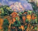 Mont Sainte Victoire And Hamlet Near Gardanne By C?zanne Fine Art Print - Medium