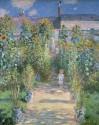The Artist's Garden At V?theuil, 1880 By Claude Monet Fine Art Print - Medium