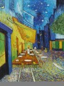Cafe Terrace At Night By Vincent Van Gogh Fine Art Print - Large