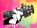 Guitar - Pop Art Paper Print - Small, Rolled