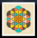Sacred Geometry- The Flower Of Life 2 Fine Art Print - Medium
