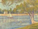 The River Seine At La Grande Jatte By Georges Seurat Fine Art Print - Medium
