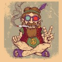 Peace Baba Paper Print - Small, Rolled