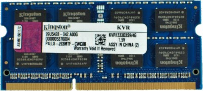 Buy Kingston ValueRAM DDR3 4 GB Laptop RAM (KVR1333D3S9/ KVR13S9S8/4): RAM