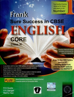 Buy Frank Sure Success In CBSE English Core (Class - 11): Regionalbooks