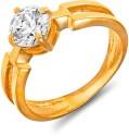 Mahi Bold Vogue Solitaire Alloy, Brass Zircon Ring