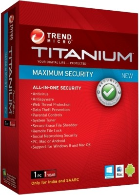 Buy Titanium Maximum Security 1 User 1 Year: Security Software