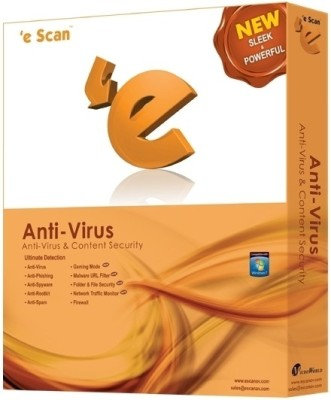 Buy eScan Anti-Virus 3 PC 1 Year: Security Software
