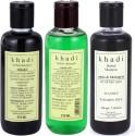 Khadi Neem Sat, Shikakai And Amla & Bhringraj Shampoo (SLS) -Tripack - 630 Ml