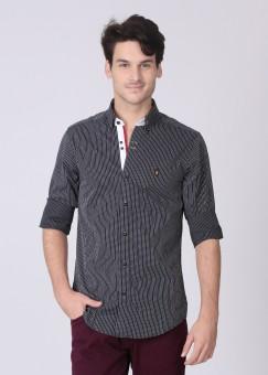 Mufti Men's Striped Casual Shirt: Shirt