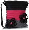 Use Me GPB Floral Large Sling Bag - Grey, Pink, Black