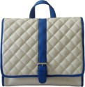 Toteteca Bag Works Quilted Medium Sling Bag - Off White, Blue