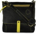 Fume Black Yellow 12 Medium Sling Bag - Black