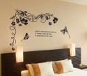 WOW Wall Sticker Black Butterfly Tree Wall PVC Removable Sticker