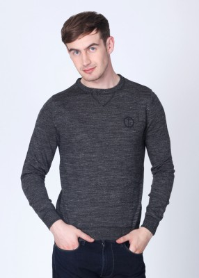 Lee Solid Round Neck Casual Men's Sweater
