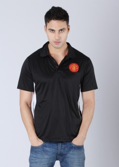 Compare Manchester United Polo Solid Men T-shirt: T-Shirt at Compare Hatke