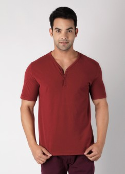 Compare FREECULTR Henley V-neck Solid Men T-shirt: T-Shirt at Compare Hatke