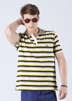 Compare Crocodile Polo Striped Men T-shirt: T-Shirt at Compare Hatke