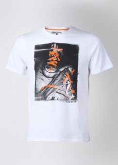 Compare Converse Round Neck Printed Men T-shirt: T-Shirt at Compare Hatke