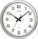 Rhythm CMG805NR19 Analog Wall Clock - Silver