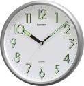 Rhythm CMG727NR19 Analog Wall Clock - Silver