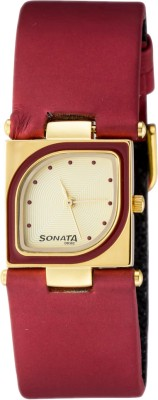 Buy Sonata Yuva Gold Analog Watch  - For Women: Watch