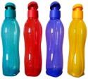 Tupperware Aquasafe 750 Ml Water Bottles - Set Of 4, Dark Green, Yellow, Blue, Red